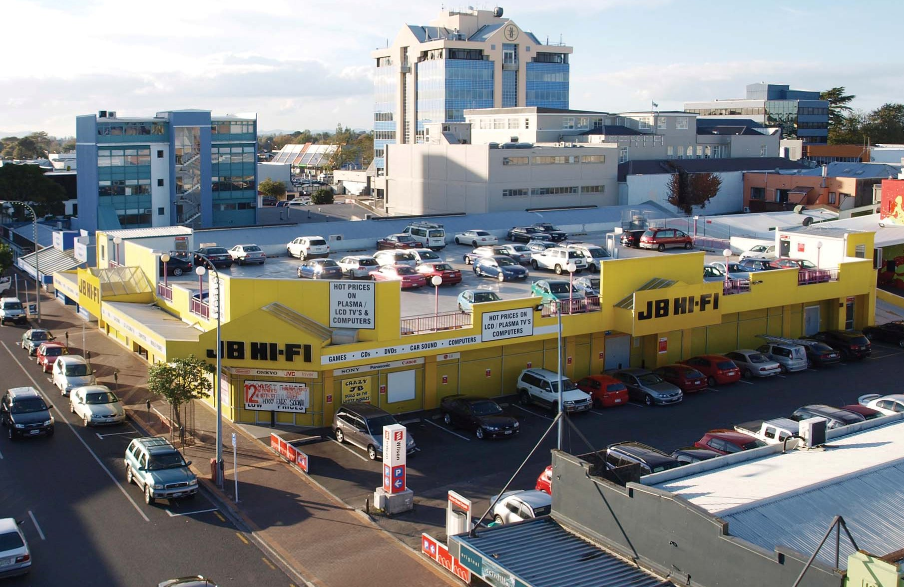Photo of JB Hi-Fi and Wilson Parking Building, 308 Barton Street, Hamilton