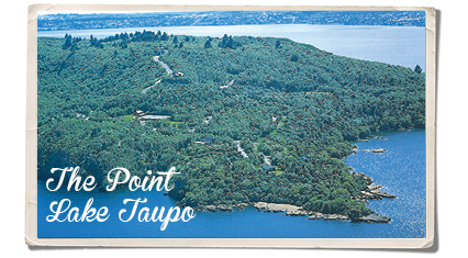 The point lake Taupo